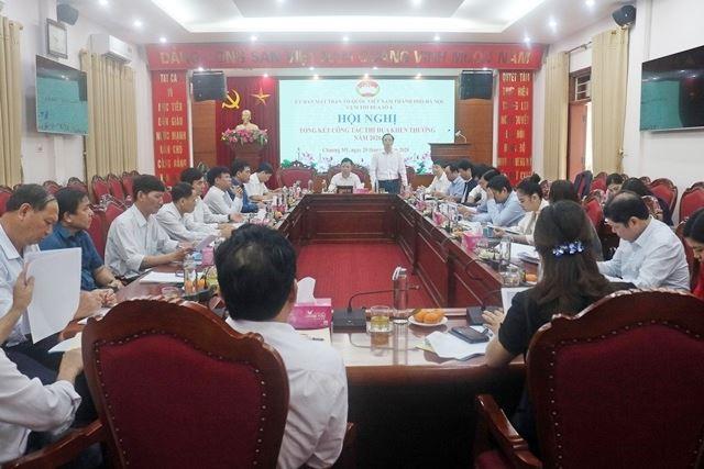 Cụm thi đua số 4 Ủy ban MTTQ Việt Nam Thành phố Hà Nội tổng kết công tác thi đua khen thưởng năm 2020