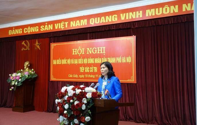 Đoàn Đại biểu Quốc hội và đại biểu HĐND thành phố Hà Nội tiếp xúc cử tri sau kỳ họp thứ 10, Quốc hội khóa XIV và trước kỳ họp thứ 18 HĐND Thành phố.