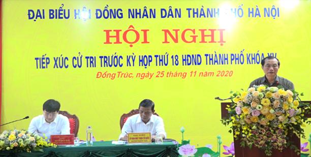 Tổ đại biểu HĐND thành phố Hà Nội tiếp xúc với cử tri xã Đồng Trúc, huyện Thạch Thất trước Kỳ họp thứ 18 HĐND Thành phố khóa XV