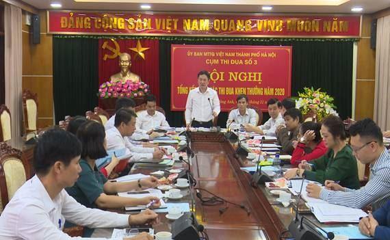 Cụm thi đua số 3 Ủy ban MTTQ Việt Nam Thành phố Hà Nội tổng kết công tác thi đua khen thưởng năm 2020