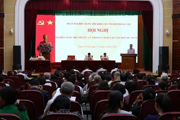 Đại biểu Quốc hội Thành phố Hà Nội tiếp xúc cử tri quận Nam Từ Liêm  sau kỳ họp thứ Mười