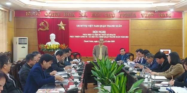 Ủy ban MTTQ Việt Nam quận Thanh Xuân phản biện xã hội về Kế hoạch phát triển Kinh tế - Xã hội năm 2021