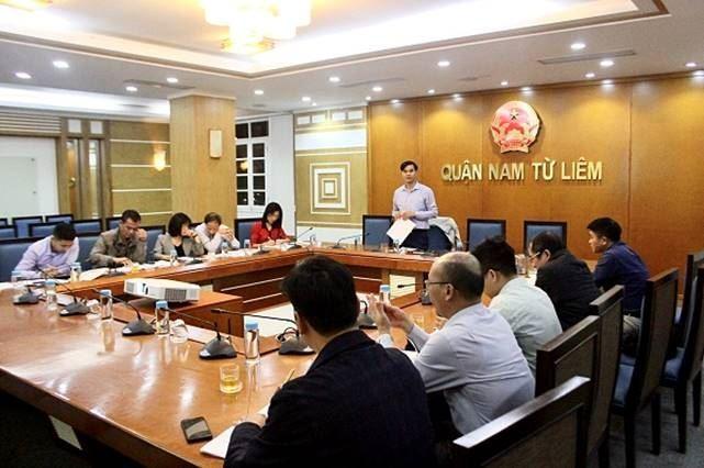Quận Nam Từ Liêm họp triển khai tổ chức Hội chợ xúc tiến thương mại
