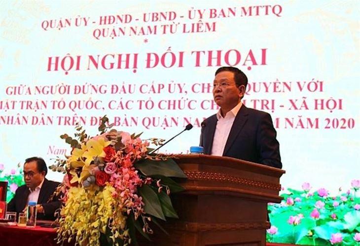 Quận Nam Từ Liêm tổ chức hội nghị đối thoại giữa người đứng đầu cấp uỷ, chính quyền với MTTQ, các tổ chức chính trị - xã hội và nhân dân trên địa bàn