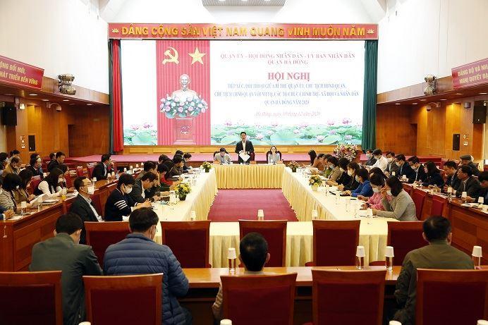 Quận Hà Đông tổ chức tiếp xúc, đối thoại với Ủy ban MTTQ, các tổ chức chính trị - xã hội và nhân dân