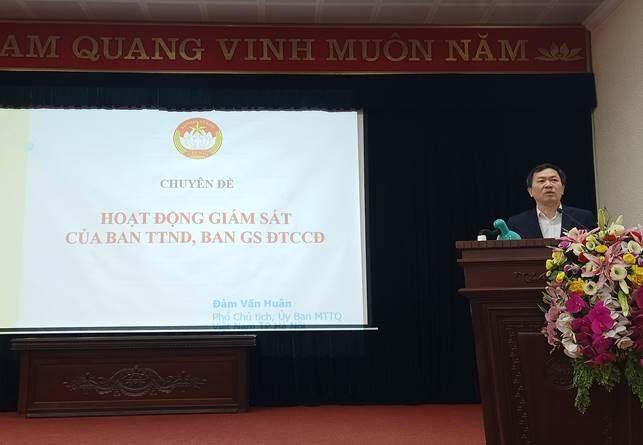 Ủy ban MTTQ Việt Nam huyện Thanh Trì tổ chức lớp tập huấn bồi dưỡng nghiệp vụ công tác Mặt trận đợt 2 năm 2020