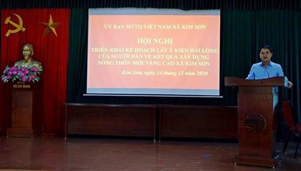 Thị xã Sơn Tây triển khai hướng dẫn lấy ý kiến hài lòng của người dân về kết quả xây dựng nông thôn mới nâng cao xã Kim Sơn