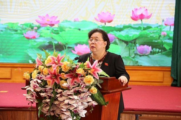 Tổ đại biểu HĐND thành phố, đơn vị bầu cử số 10, tiếp xúc cử tri quận Hà Đông sau Kỳ họp thứ 18.