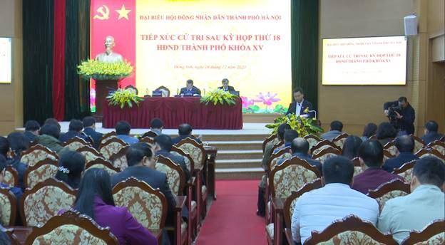 Ủy ban MTTQ Việt Nam huyện Đông Anh tổ chức hội nghị tiếp xúc cử tri sau kỳ họp thứ 18 HĐND Thành phố khóa XV