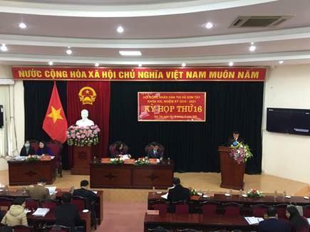 Ủy ban MTTQ Việt Nam thị xã Sơn Tây thông báo kết quả công tác Mặt trận tham gia xây dựng chính quyền năm 2020 tại Kỳ họp thứ 16 HĐND thị xã.