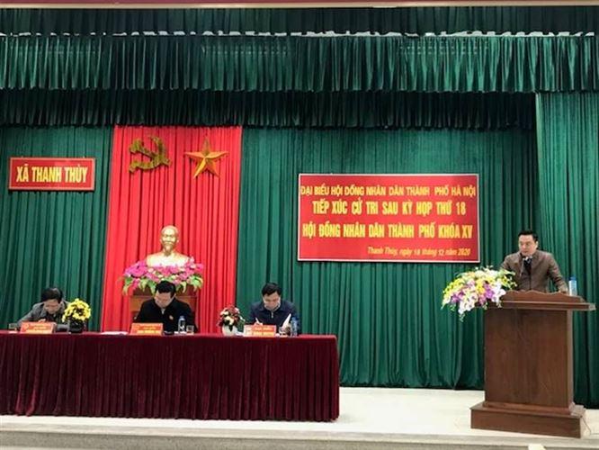 Đại biểu HĐND TP tiếp xúc cử tri huyện Thanh Oai sau kỳ họp thứ 18 HĐND TP khóa XV