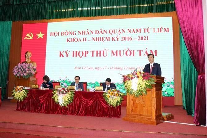 Ủy ban MTTQ Việt Nam quận Nam Từ Liêm thông báo  kết quả công tác xây dựng chính quyền năm 2020 tại kỳ họp thứ 18 HĐND quận khóa II, nhiệm kỳ 2016-2021