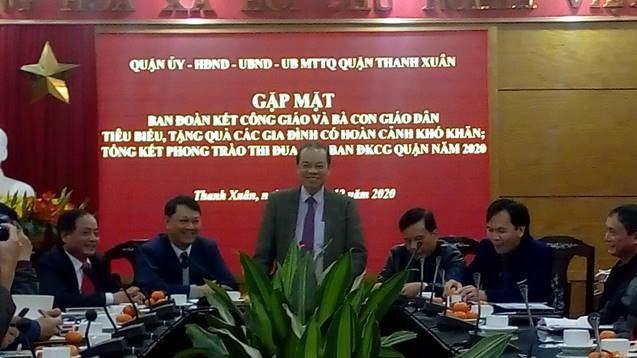 Tổng kết hoạt động của Ban đoàn kết Công giáo quận Thanh Xuân năm 2020, phương hướng nhiệm vụ năm 2021.