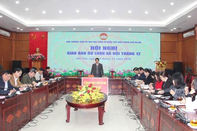 Hội nghị giao ban công tác Dư luận xã hội tháng 12