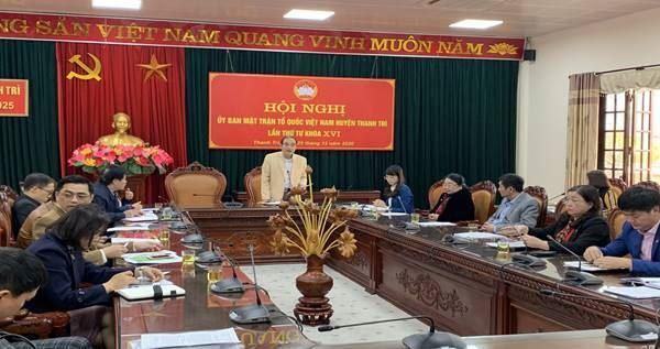 Hội nghị lần thứ tư nhiệm kỳ 2019-2024, Ủy ban MTTQ Việt Nam huyện Thanh Trì