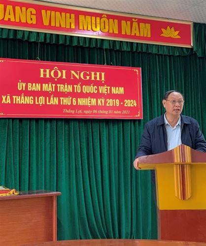Ủy ban MTTQ Việt Nam xã Thắng Lợi tổ chức Hội nghị Tổng kết công tác Mặt trận năm 2020, triển khai chương trình phối hợp hành động năm 2021