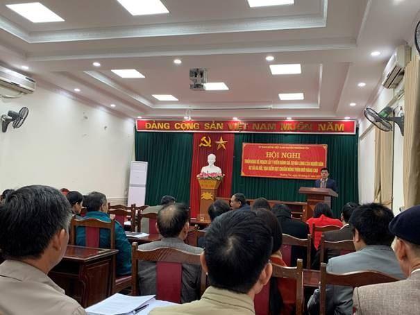 Ủy ban MTTQ Việt Nam huyện Thường Tín hướng dẫn 2 xã Hà Hồi, Vạn Điểm lấy ý kiến đánh giá sự hài lòng của người dân về kết quả xây dựng nông thôn mới nâng cao