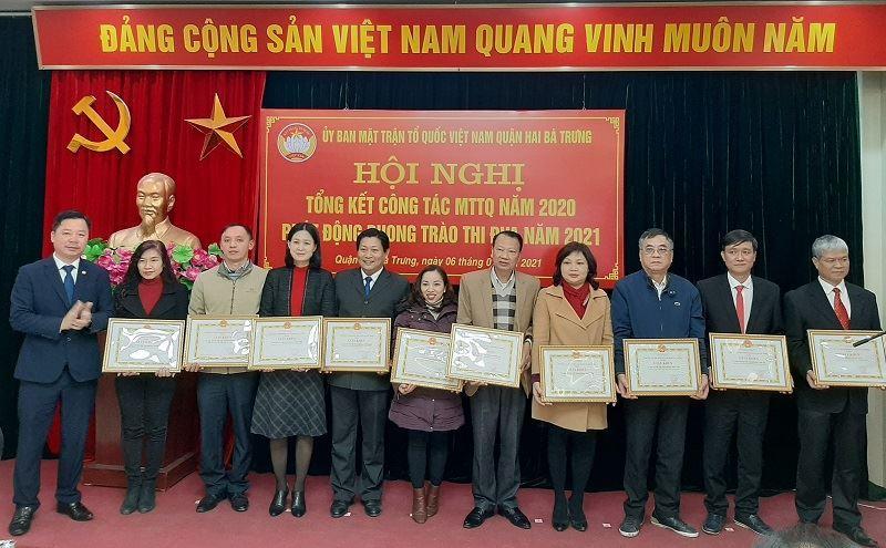 Ủy ban MTTQ Việt Nam Quận Hai Bà Trưng Tổng kết công tác MTTQ năm 2020, phát động phong trào thi đua năm 2021