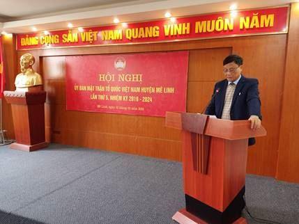 Ủy ban MTTQ Việt Nam huyện Mê Linh tổ chức Hội nghị lần thứ V, khóa XI nhiệm kỳ 2019 - 2024.