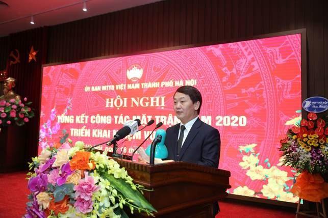 Ủy ban MTTQ Việt Nam TP Hà Nội đón nhận Huân chương Lao động hạng 3 trong công tác phòng, chống dịch Covid-19