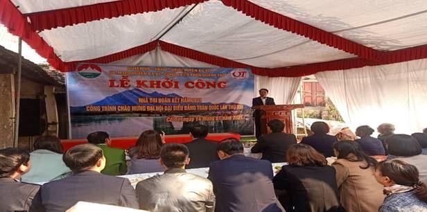 Ba Vì Khởi công xây dựng nhà đại đoàn kết cho hộ nghèo – công trình chào mừng đại hội đại biểu toàn quốc lần thứ XIII của Đảng
