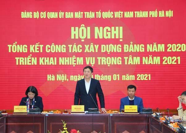 Ủy ban MTTQ Việt Nam TP tổng kết công tác xây dựng Đảng năm 2020