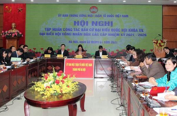Ủy ban Trung ương MTTQ Việt Nam tập huấn công tác bầu cử Đại biểu Quốc hội khóa XV và HĐND các cấp, nhiệm kỳ 2021-2026