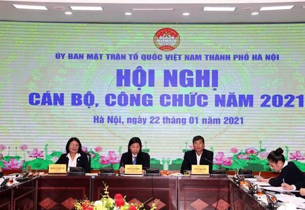 Hội nghị cán bộ, công chức cơ quan Ủy ban MTTQ Việt Nam thành phố Hà Nội năm 2021