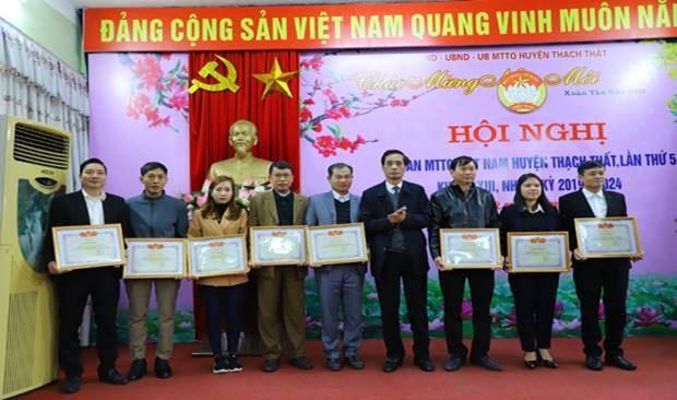 Ủy ban MTTQ Việt Nam huyện Thạch Thất tổ chức hội  nghị lần thứ 5, nhiệm kỳ 2019-2024