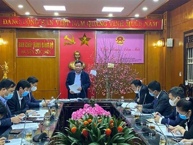 Phó Bí thư Thành ủy Hà Nội kiểm tra công tác phòng chống dịch trên địa bàn huyện Sóc Sơn