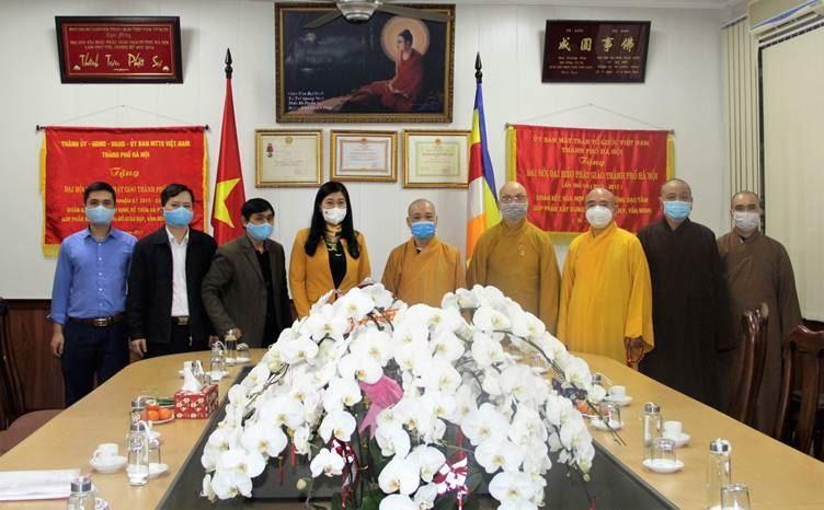Ủy ban MTTQ Việt Nam TP thăm, chúc tết Giáo hội Phật giáo Việt Nam TP