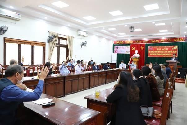 Ủy ban MTTQ Việt Nam huyện Thường Tín tổ chức Hội nghị hiệp thương lần thứ nhất bầu cử đại biểu Hội đồng nhân dân huyện nhiệm kỳ 2021-2026