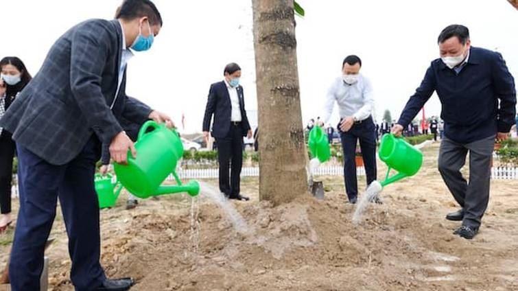 Huyện Sóc Sơn tổ chức lễ phát động Tết trồng cây Xuân Tân Sửu tại xã Mai Đình