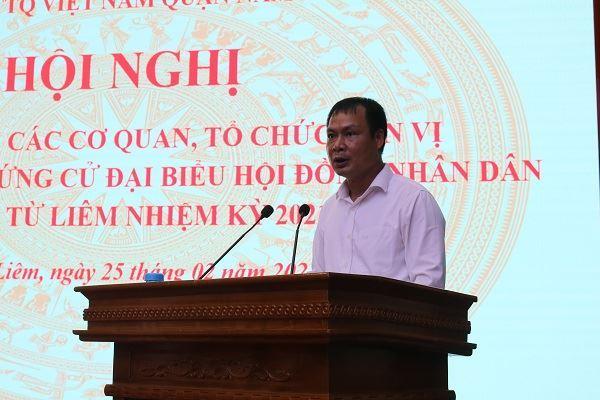 Ủy ban MTTQ Việt Nam quận Nam Từ Liêm hướng dẫn giới thiệu người ứng cử đại biểu Hội đồng nhân dân quận nhiệm kỳ 2021 - 2026
