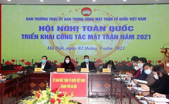 Ủy ban Trung ương MTTQ Việt Nam triển khai công tác Mặt trận năm 2021