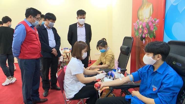 Huyện Thường Tín tổ chức Ngày hội hiến máu tình nguyện năm 2021