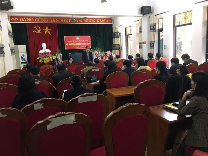 Ủy ban Mặt trận Tổ quốc Việt Nam huyện Ứng Hòa tổ chức Hội nghị Giao ban Quý I năm 2021