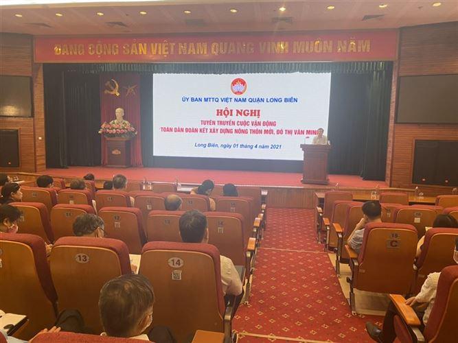 """Hội nghị tuyên truyền cuộc vận động """"Toàn dân đoàn kết xây dựng nông thôn mới, đô thị văn minh"""", bầu cử đại biểu Quốc hội khóa XV, đại biểu HĐND các cấp nhiệm kỳ 2021 – 2026"""