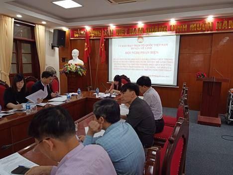 """MTTQ Việt Nam huyện Mê Linh Phản biện vào dự thảo Đề án """"Xây dựng đội ngũ cán bộ, công chức trong cơ quan hành chính nhà nước huyện Mê Linh phục vụ chuyên nghiệp,hiệu quả đáp ứng yêu cầu nhiệm vụ chính trị của huyện Mê Linh giai đoạn 2021 – 2025 và những năm tiếp theo""""."""