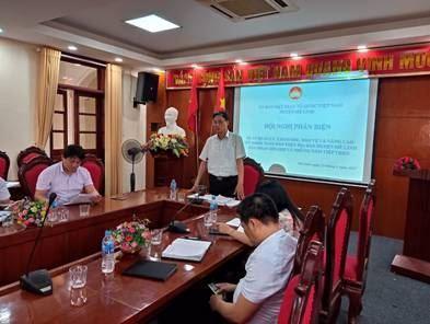 """ban MTTQ Việt Nam huyện Mê Linh tổ chức Hội nghị Phản biện vào dự thảo Đề án """"Quản lý, chăm sóc, bảo vệ và nâng cao sức khỏe toàn dân trên địa bàn huyện Mê Linh giai đoạn 2021 – 2025 và những năm tiếp theo""""."""