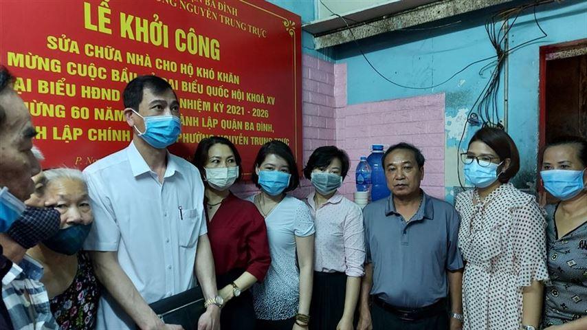 Khởi công sửa chữa nhà cho gia đình có hoàn cảnh khó khăn tại phường Nguyễn Trung Trực