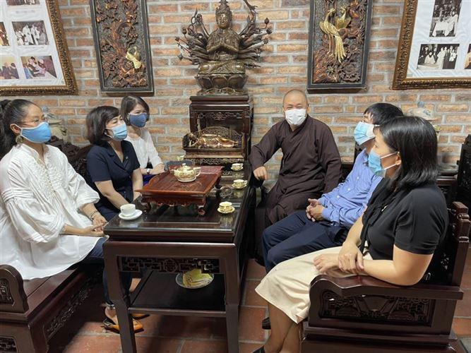 Ủy ban MTTQ Việt Nam quận Ba Đình thăm, chúc mừng Ban trị sự Phật giáo quận