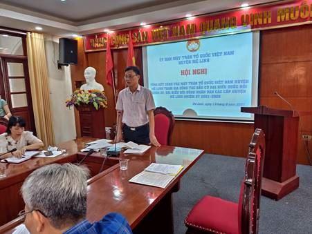 Ủy ban MTTQ Việt Nam huyện Mê Linh tổ chức Hội nghị tổng kết công tác MTTQ tham gia bầu cử đại biểu Quốc hội khóa XV và đại biểu HĐND các cấp, nhiệm kỳ 2021 – 2026.