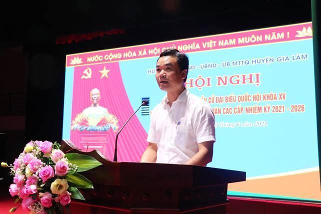 Huyện Gia Lâm tổng kết cuộc bầu cử đại biểu Quốc hội khóa XV và đại biểu HĐND các cấp nhiệm kỳ 2021- 2026