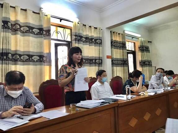 Đoàn giám sát của Ủy ban MTTQ Việt Nam thành phố Hà Nội làm việc tại huyện Ứng Hòa về việc thực hiện một số chính sách hỗ trợ người lao động và người sử dụng lao động gặp khó khăn do đại dịch Covid 19