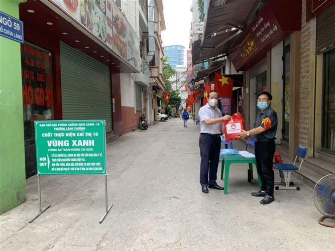 Ban Thường trực Ủy ban MTTQ Việt Nam quận Đống Đa kiểm tra, giám sát công tác phòng, chống dịch bệnh Covid-19 trên địa bàn Phường Láng Thượng