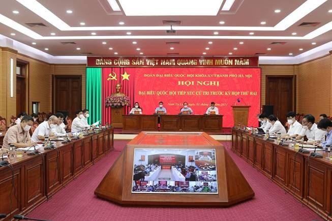 Quận Nam Từ Liêm tổ chức hội nghị tiếp xúc cử tri trước kỳ họp thứ 2, Quốc hội khóa XV