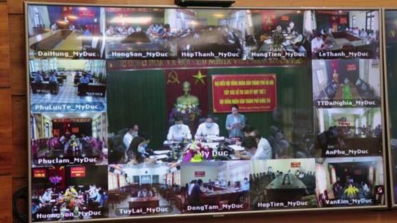 Tổ đại biểu HĐND Thành phố Hà Nội tiếp xúc cử tri huyện Mỹ Đức sau kỳ họp thứ 2 HĐND Thành phố khóa XVI