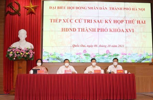 Đoàn đại biểu HĐND TP Hà Nội (đơn vị bầu cử số 26) tiếp xúc cử tri sau kỳ họp thứ Hai  tại  huyện Quốc Oai