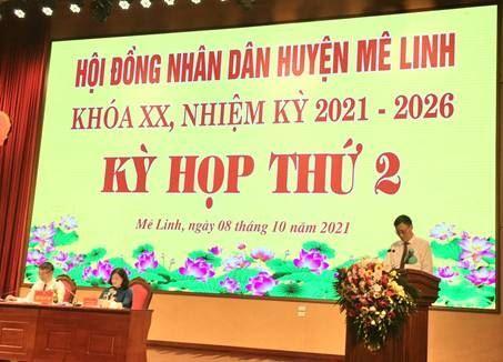 Ủy ban MTTQ Việt Nam huyện Mê Linh thông báo công tác tham gia xây dựng Đảng, xây dựng chính quyền 9 tháng đầu năm 2021 tại kỳ họp thứ 2 HĐND huyện Mê Linh khóa XX, nhiệm kỳ 2021 – 2026.